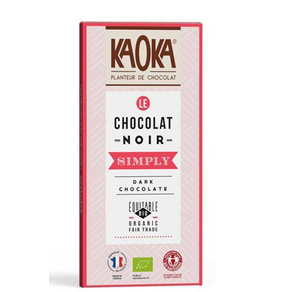 Bilde av Kaoka Simply mørk sjokolade 58% 80 gr