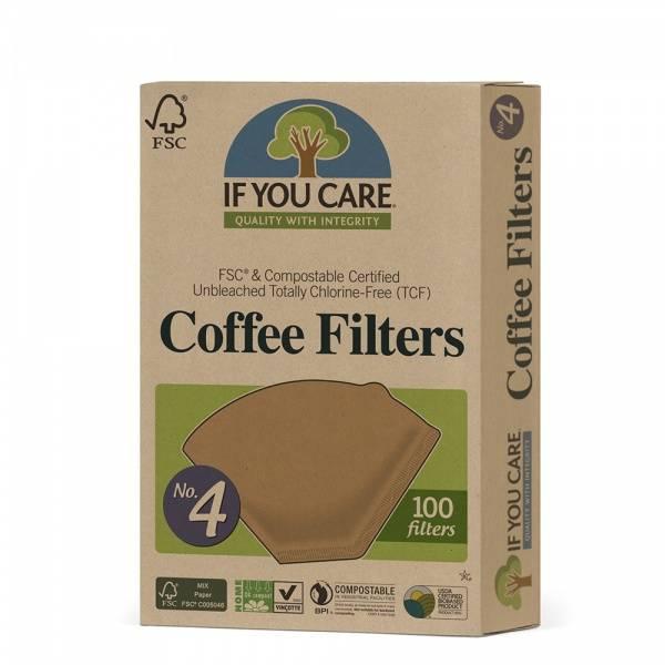 Bilde av If You Care Kaffefilter nr 4 100 stk