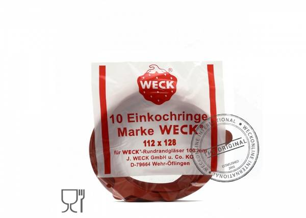 Bilde av Weck tilbehør 120mm gummiringer 10-pk X-Large (RR120)