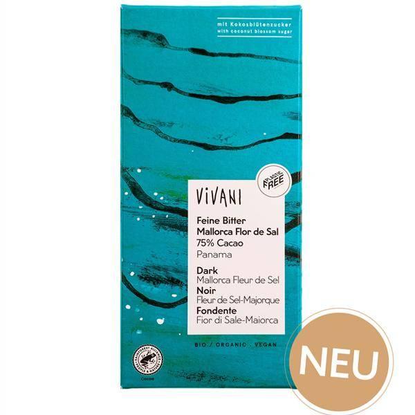Bilde av Vivani Mørk sjokolade 75% Mallorca Sel 80 gram