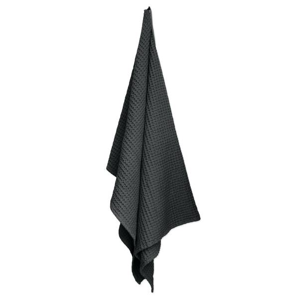 Bilde av Big Waffle Towel & Blanket Dark Grey