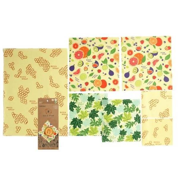 Bilde av Bees Wrap - Variety Pack 7 ark Fresh Fruit