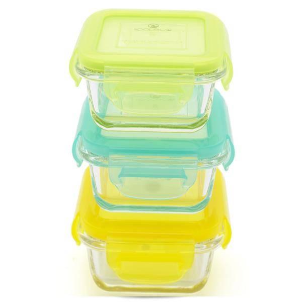 Bilde av Kooleco glassbeholdere Cubes 3 pk 150ml