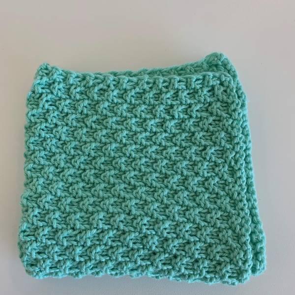 Bilde av Strikkeklut 100% Eco bomull Lys Mintgrønn